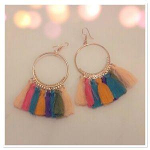 Multicolored Tassel Dangle Earrings